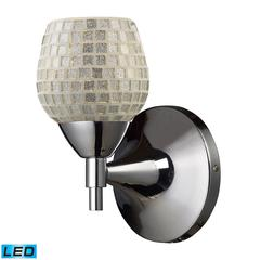Celina 1 Light LED Sconce In Polished Chrome And Silver Glass
