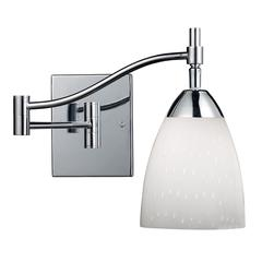 Celina 1 Light Swingarm Sconce In Polished Chrome And Simple White