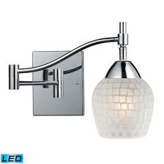 Celina 1 Light LED Swingarm Sconce In Polished Chrome And White