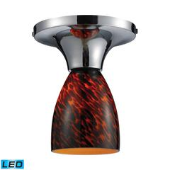 Celina 1 Light LED Semi Flush In Polished Chrome And Espresso