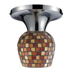 Celina 1 Light Semi Flush In Polished Chrome And Multi Fusion Glass