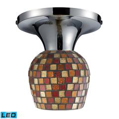 ELK lighting Celina 1 Light LED Semi Flush In Polished Chrome And Multi Fusion Glass