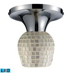 ELK lighting Celina 1 Light LED Semi Flush In Polished Chrome And Silver