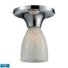 Celina 1 Light LED Semi Flush In Polished Chrome And Snow White