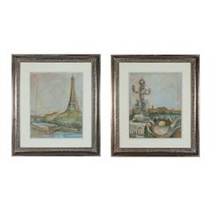 Sterling View Of Paris I And II -