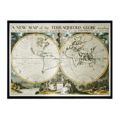 Sterling Map Of Terrqueous Globe, Oxford