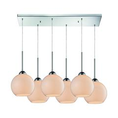 ELK lighting Cassandra 6 Light Pendant In Polished Chrome