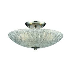 Luminese 3 Light Semi Flush In Satin Nickel