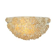 Shells 1 Light Wall Sconce In Polished Chrome