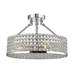 Hammond 4 Light Semi Flush In Polished Chrome