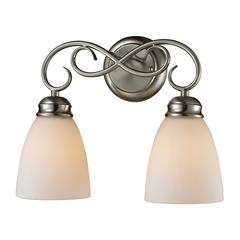 Chatham 2 Light Bath Bar In Brushed Nickel