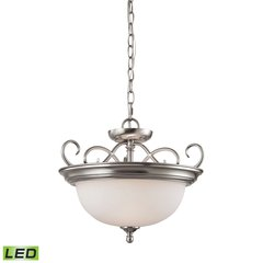 Chatham 2 Light LED Convertible Semi Flush Pendant In Brushed Nickel