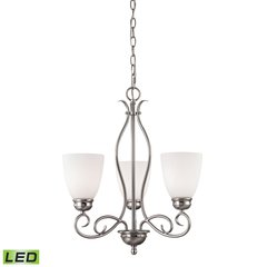 Chatham 3 Light LED Chandelier In Brushed Nickel