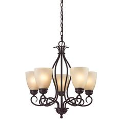 Chatham 5 Light Chandelier In Oil Rubbed Bronze
