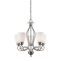 Chatham 5 Light EEF Chandelier In Brushed Nickel