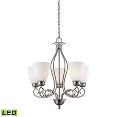 Chatham 5 Light LED Chandelier In Brushed Nickel
