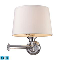 ELK lighting Westbrook 1 Light LED Swingarm Sconce In Polished Chrome