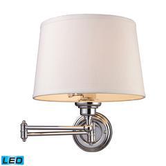 Westbrook 1 Light LED Swingarm Sconce In Polished Chrome