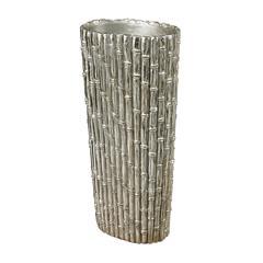 Silver Bamboo-Bamboo Floor Standing Vase