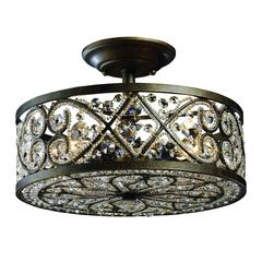 Amherst 4 Light Semi Flush In Antique Bronze