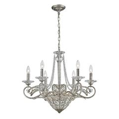 La Flor 9 Light Chandelier In Sunset Silver