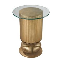 Lazy Susan Gold Leaf Sock Bun Side Table