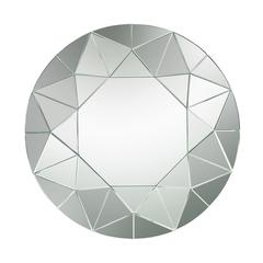 Lazy Susan Circular Geometric Mosaic Mirror