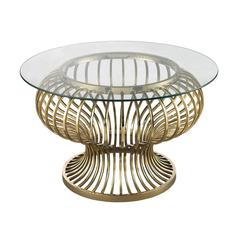 Undulating Gold Rod Coffee Table