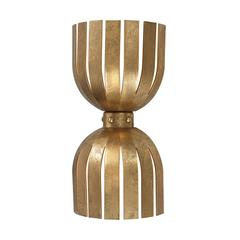 Olympia Double Wall Sconce In Gold Leaf
