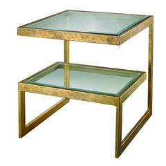 Key Side Table In Gold Leaf