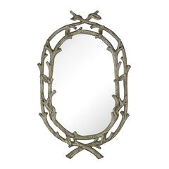 Sterling Brampton-Silver Leaf Wrapped Branch Mirror