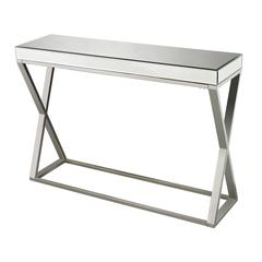 Sterling Klein-Mirror And Stainless Console Table