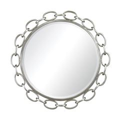 Erin Chain Link Silver Leaf Mirror By