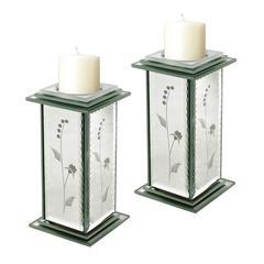 Set Of 2 Venetian Candle Holders