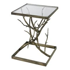 Blackened Silver Branch Side Table