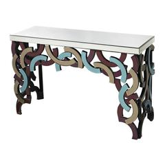 Colored Glass Console