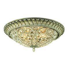 ELK lighting Andalusia 4 Light Flush Mount In Aged Silver