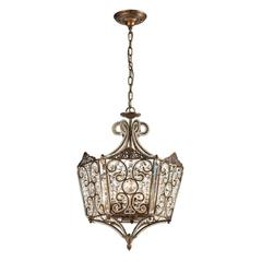 Villegosa 8 Light Pendant In Spanish Bronze