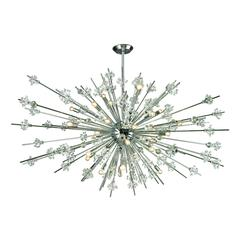 ELK lighting Starburst 31 Light Chandelier In Polished Chrome