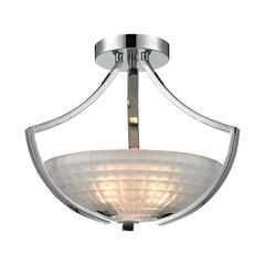 ELK lighting Sculptive 3 Light Semi Flush In Polished Chrome