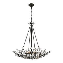 ELK lighting Crystal Branches 8 Light Pendant In Burnt Bronze