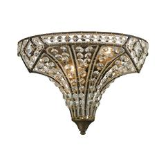Jausten 2 Light Wall Sconce In Antique Bronze