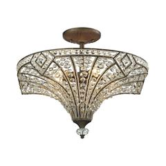 ELK lighting Jausten 5 Light Semi Flush In Antique Bronze