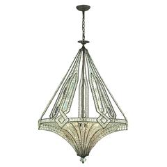 ELK lighting Jausten 7 Light Chandelier In Antique Bronze