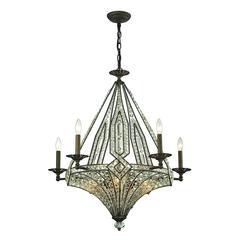 ELK lighting Jausten 10 Light Chandelier In Antique Bronze