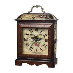 Sterling Butterfly Wooden Display Clock