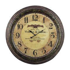 Sterling Violettes De Parme Clock