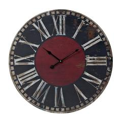 Black And Red Printed Clock