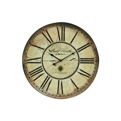 Sterling Carte Postal Clock With Antique Cream Metal Frame
