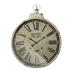 Sterling Kensington Station Clock With Antique Cream Metal Frame